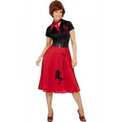 Kostým Pudlík 50. let červený