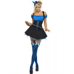 Kostým Sexy čarodějnice modrá
