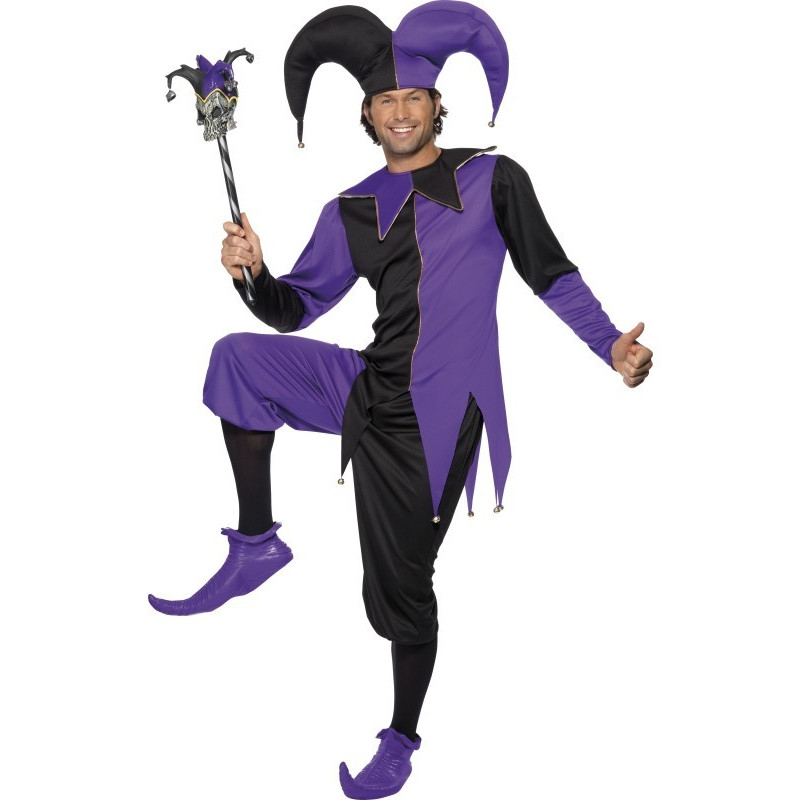Kostým Dvorní šašek fialová/černá
