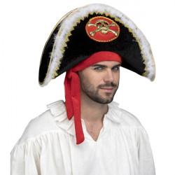 Klobouk Pirát s bílým chmířím