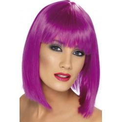 Paruka Glam neon fialová
