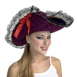 Klobouk Pirát s černou krajkou