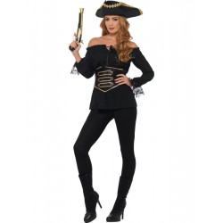 Pirátská košile dámská, černá