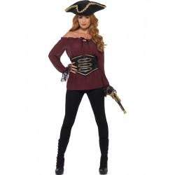 Pirátská košile dámská, vínová