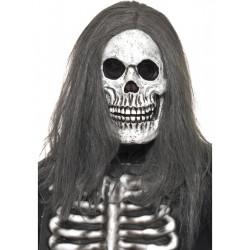 Maska Lebka s šedými vlasy