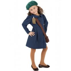 Dětský kostým Válečná evakuovaná dívka