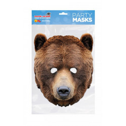 Papírová maska Medvěd