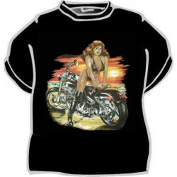 Tričko Motorka a žena