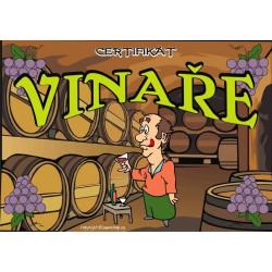 Certifikát vinaře (naležato)