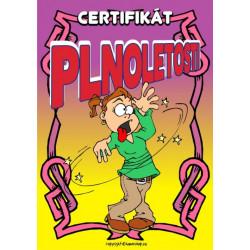 Certifikát plnoletosti (opilá holka)