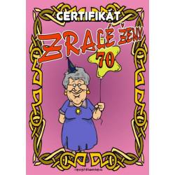 Certifikát zralé ženy 70