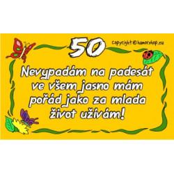 Průkaz 50 pro ženu