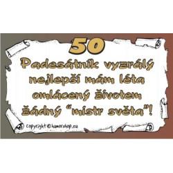 Průkaz 50 pro muže