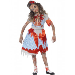 Dětský kostým Zombie country girl
