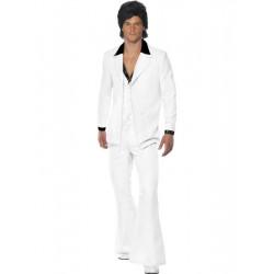 Kostým Oblek 70. let bílý
