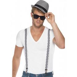 Šle a klobouk černá/bílá