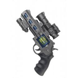 Revolver Space Cop se zvukem a světlem