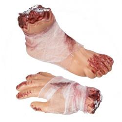 Noha nebo ruka s obvazem