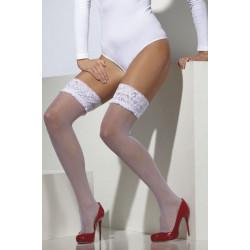Punčochy bílé s krajkou