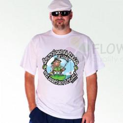 Tričko Špatný den na rybách bílé
