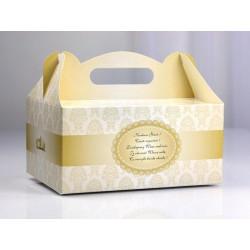 Krabička na cukroví zlatá