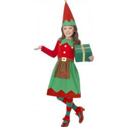 Dětský kostým Malá Santova pomocnice