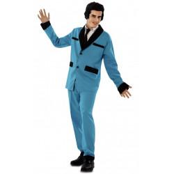 Kostým Rockabilly modrý